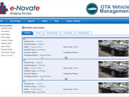 Vehicle listing page