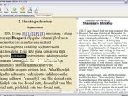 Pali Text Reader - displays translation for paragraph