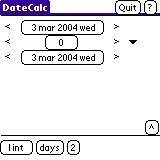 Show days intervals (Palm, with 2 dates)
