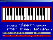 MUSIC.BAS running on PC-BASIC (note that MUSIC.BAS is not part of the PC-BASIC distribution)