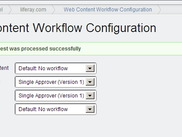 Liferay Web Content Workflow Configuration