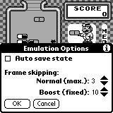 Emulation Options dialog