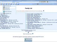 Family List with the content of Lists Menu (Cloudy theme)