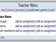teachers' classes page.
