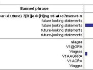 regular expression and obfuscated text phrase matching