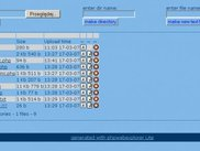 php web explorer lite screen