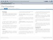 Gazetteer Template - Donated by haran at OSWD