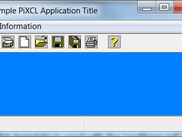 PiXCL Application Window produced by the Code Wizard