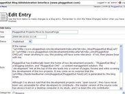 Blog - Administration Interface - Editing an Entry