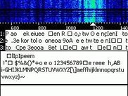 Receiving test PSK31 signal at 1.2kHz