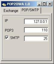 Pop2Owa running with SMTP enabled