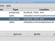 Main window of PostSqlForms