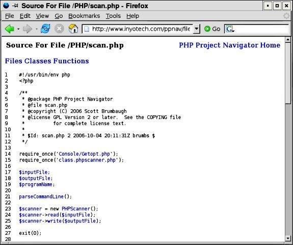 PHP Project Navigator | Free Development software downloads at ...