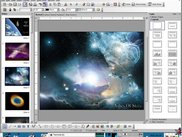 I opened a PPS within photos about Galaxis with openoffice