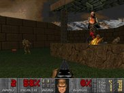 "Final Doom, TNT Evilution MAP02 ""Human BBQ"" - software mode."
