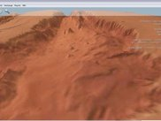 """free camera view"" at Mars 3D Imagery"