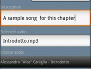 An audio chapter creation