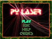 The pyLaser menu screen