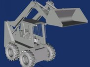Visualization of a Skidsteer