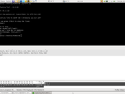 Top half is the command terminal running PyNuker, bottom half is a Wireshark window from the server receiving traffic from PyNuker, with the custom message highlighted in the packet contents.