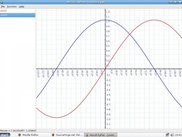 User interface of PyPlot, tracing sine and cosine graphs
