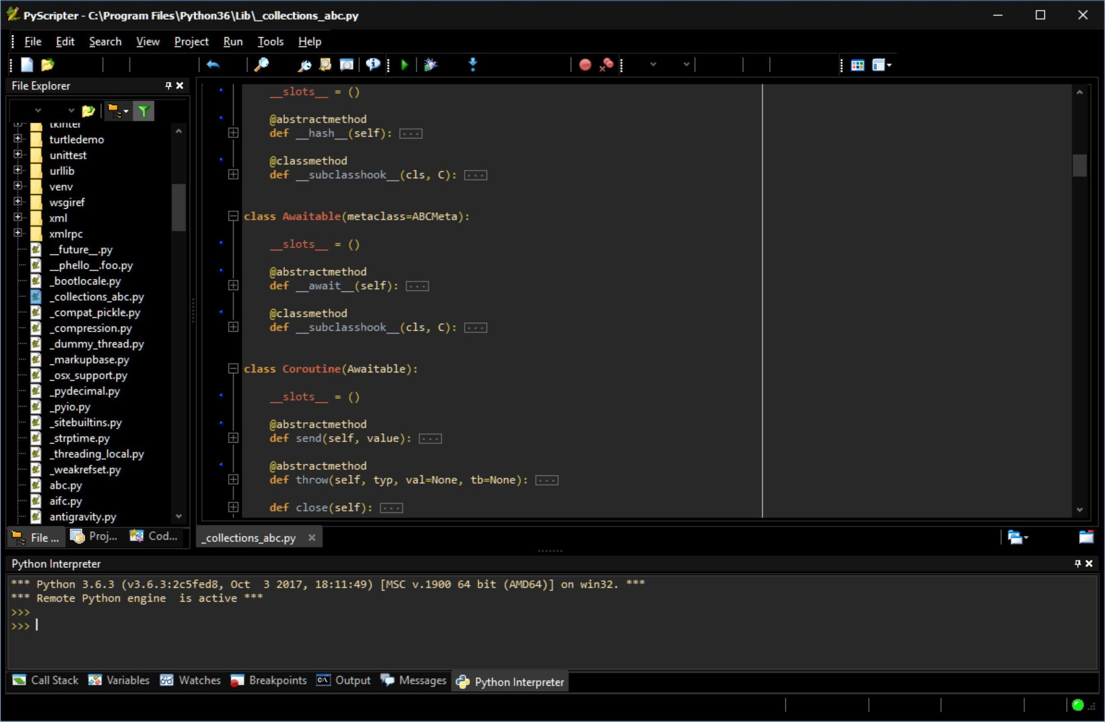 PyScripter x64 screenshot