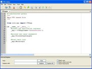Editor window on WindowsXP