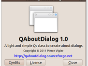 Example of QAboutDialog 1.0