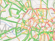 VirtualEarth map + Navitel traffic jams