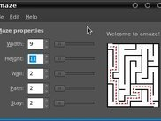 a typical small maze; running on Ubuntu