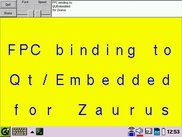 Demo of FPC Qt binding on a Zaurus SL-6000L