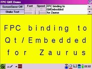 Demo of FPC Qt/E binding on a Zaurus SL-6000L