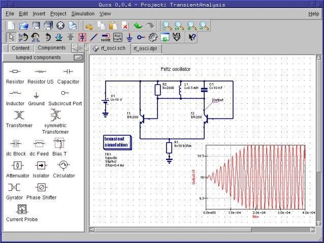 simulation of electronic circuits