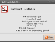 Main screen: statistics