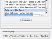 Managing the playlist in Mac OS X