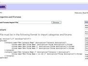 Import Forums and Categories - XML