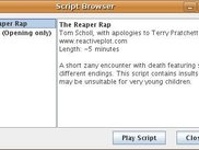 Script Repository Browser in Script Player 0.3.0