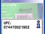 Barcode screen capture from emulator