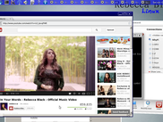 Snowshoe web browser playing a Youtube video as a native Wayland client