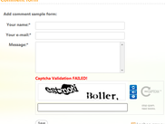 Demo ReCaptcha on Adding content form