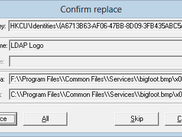 Replace confirmation dialog