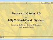 LaTeX Flash Card System, Integrated with Research Master 3.0