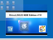 RhinoLINUX V7 Desktop preview