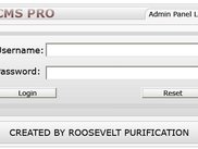 The admin login form of rcms pro.