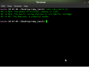 The command line results