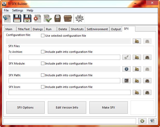 7z SFX Builder x64 screenshot