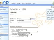 FreePBX running Saflets configuration page (1.3.0)