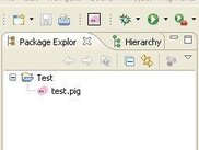 Project with pig file and menu bar