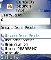 Contacts Search in the Scattercom network[Thanks to Namee]