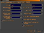 Configuration dialog page 1